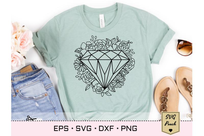diamond-floral-frame-svg