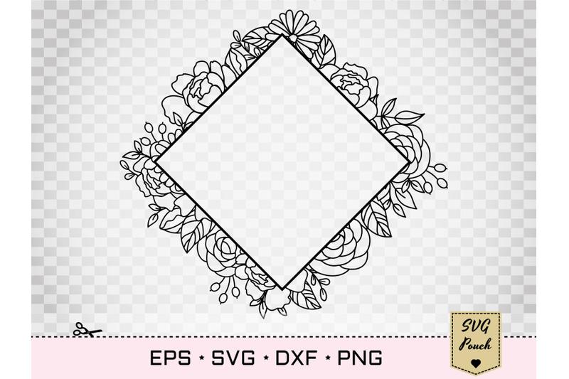 floral-full-square-frame-svg