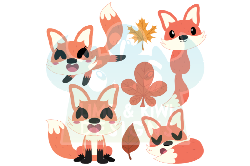 foxes-clipart-lime-and-kiwi-designs