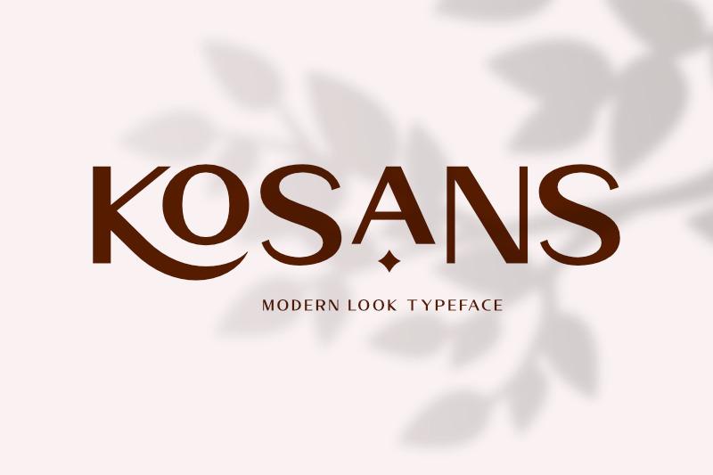 kosans-modern-look-typeface