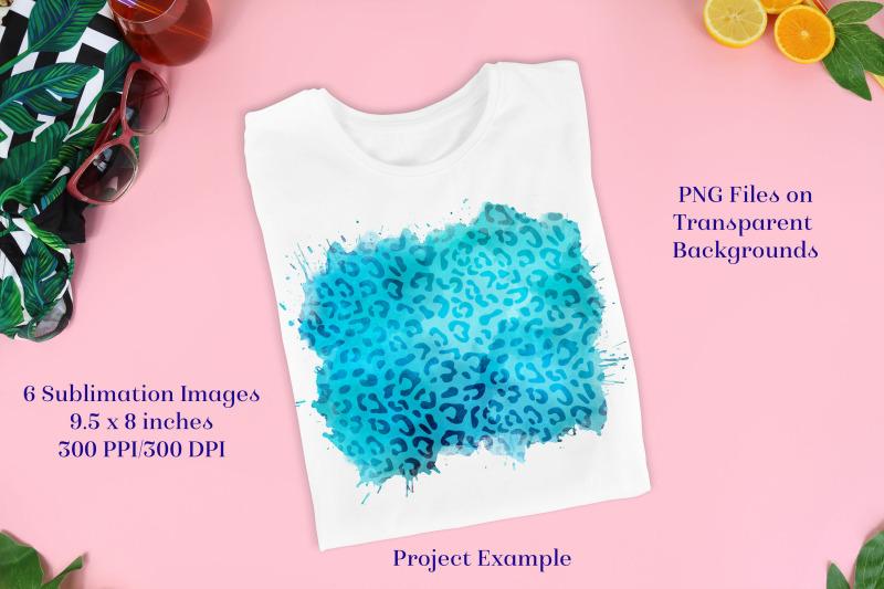 sublimation-png-designs-aqua-leopard-print-images