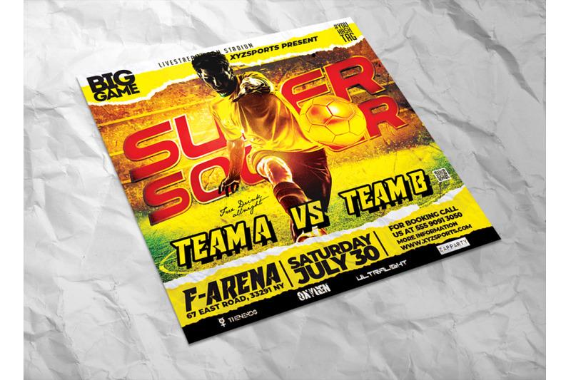 super-soccer-sports-flyer