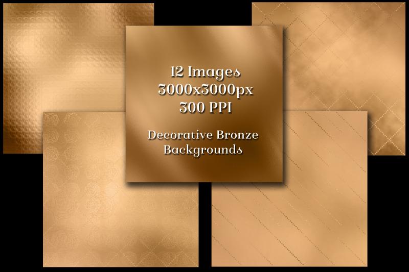 decorative-bronze-backgrounds-12-image-textures-set