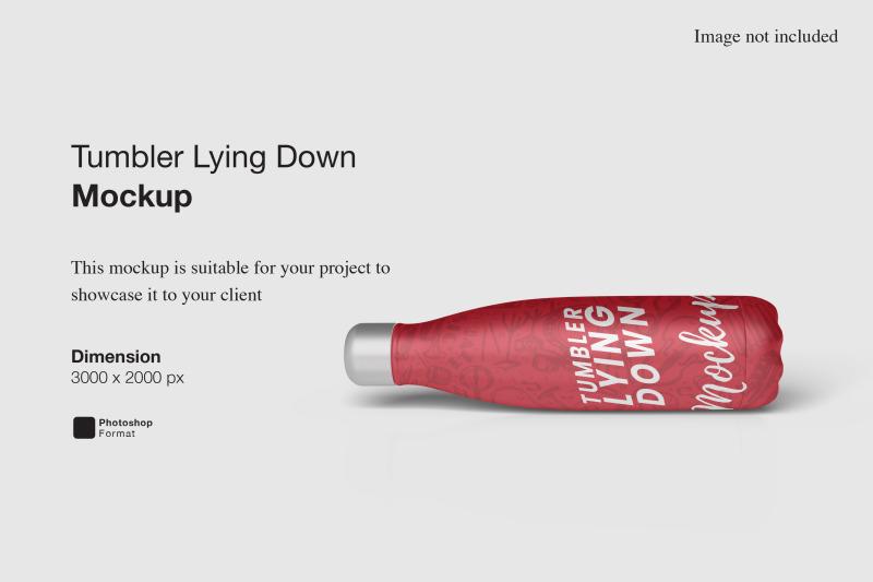 Download Tumbler Lying Down Mockup Free Mockups