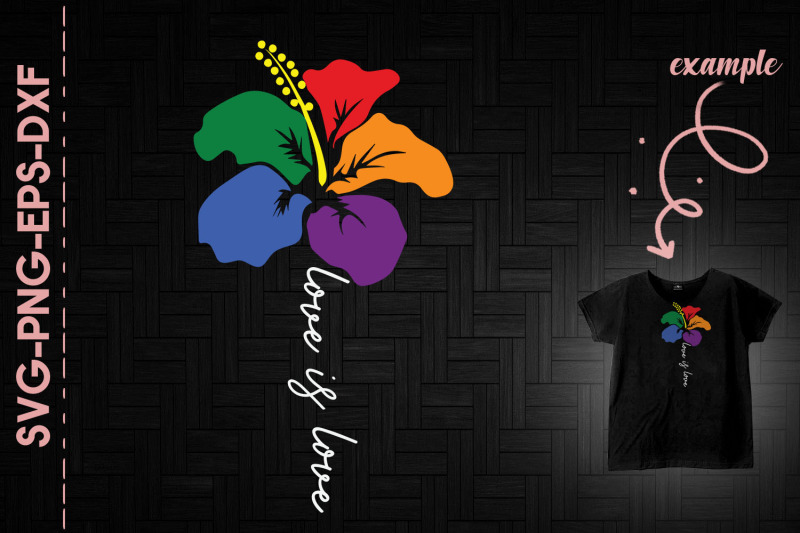love-is-love-lgbtq-color-flower-support