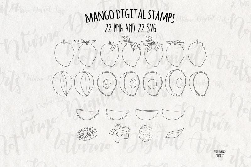 mango-digital-stamps-set-of-22