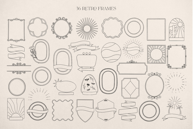 retro-logo-elements-frames-amp-templates