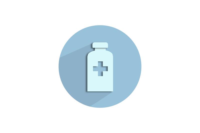 medical-icon-papercut-with-povidone-iodine-bottle