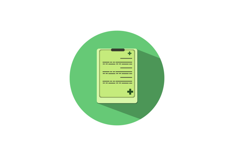 medical-icon-papercut-with-green-medicine-file