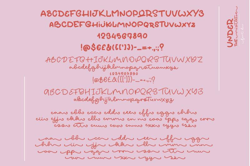 under-the-mistletoe-font-duo