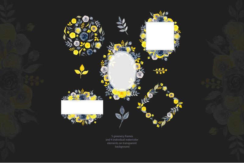 watercolor-yellow-amp-gray-trendy-frames