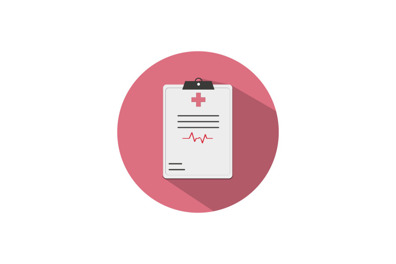 medical-icon-papercut-isolated-with-medical-record