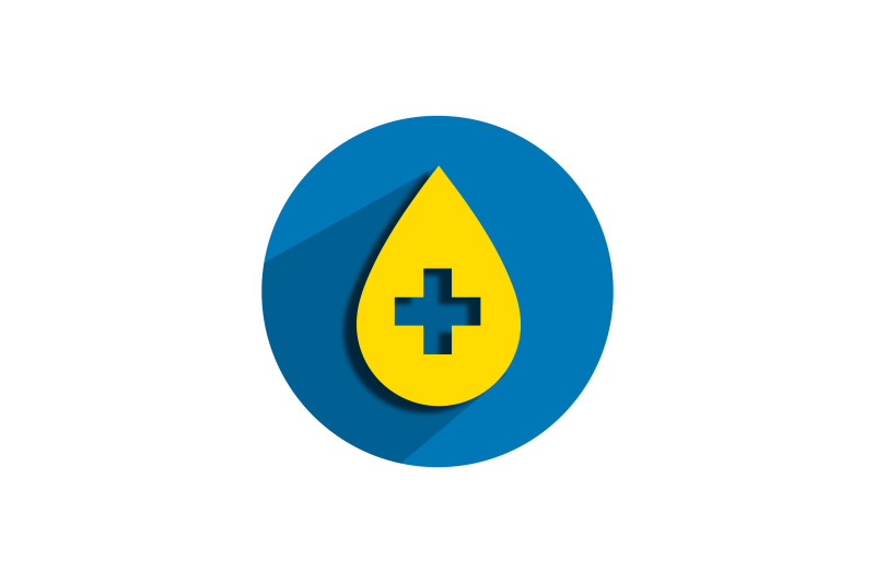 medical-icon-papercut-with-yellow-blood-symbol