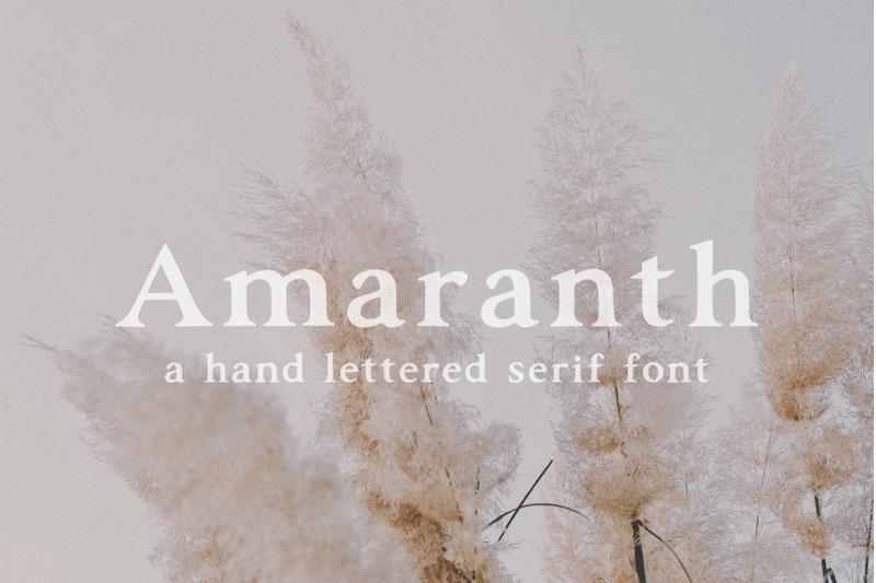 amaranth-hand-lettered-serif-font