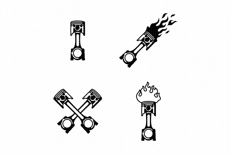 flaming-car-piston-svg-and-png-clipart