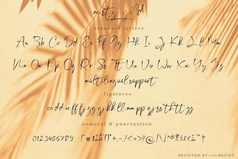 misty-gold-font