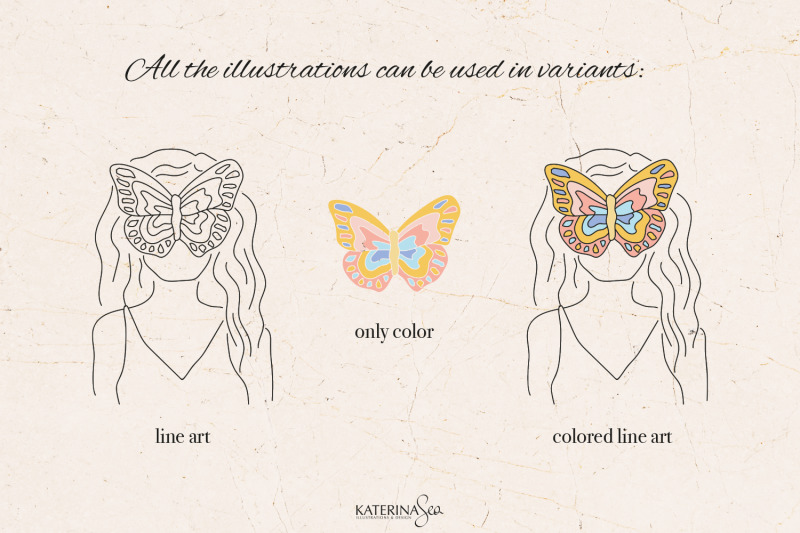 butterfly-woman-vector-collection