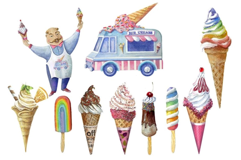 ice-cream-clipart-rainbow-ice-cream-instant-download-ice-cream-truck