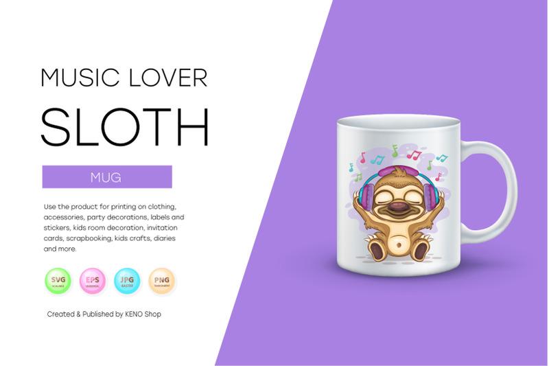 sloth-music-lover-cute-clipart