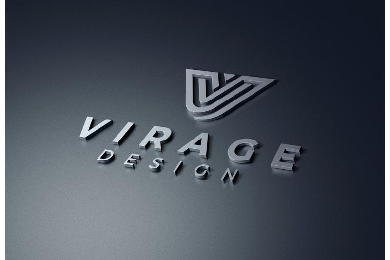 logo-mockup-3d-metallic-logo