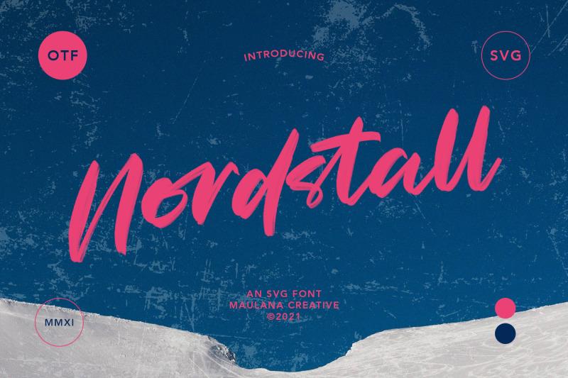 nordstall-svg-brush-font