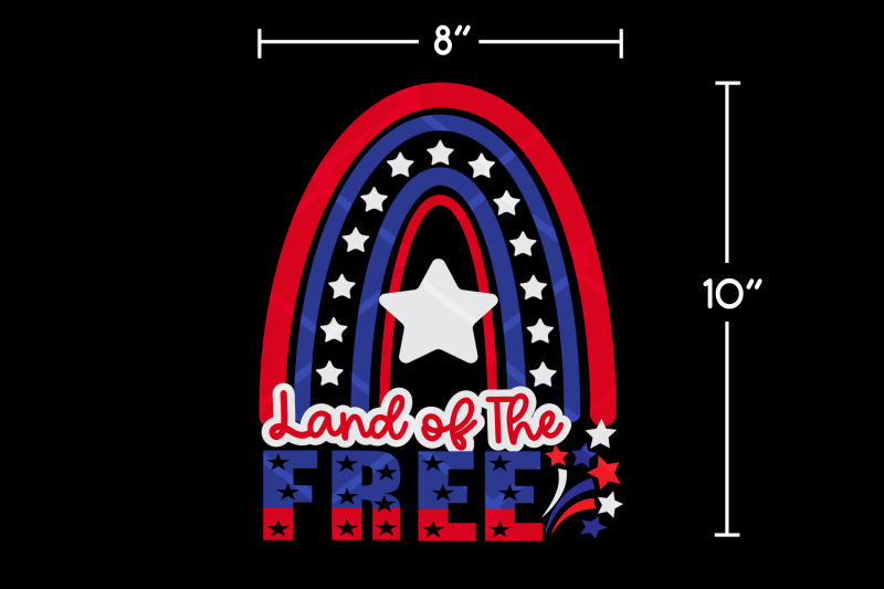 4th-of-july-rainbow-land-of-the-free-svg