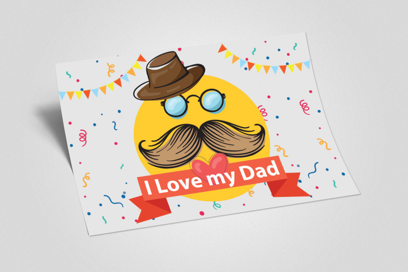 father-039-s-day-greeting-card-template