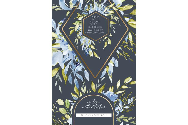 watercolor-boho-roses-frames-clipart-dusty-blue-florals-clip-art