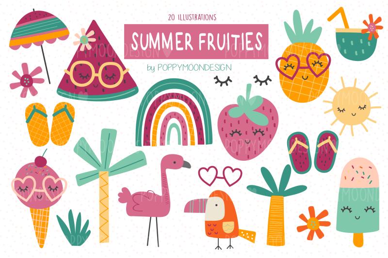 summer-fruities-clipart-set