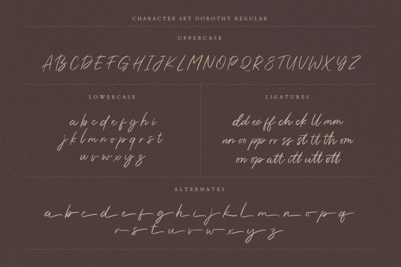dorothy-handwritten-script