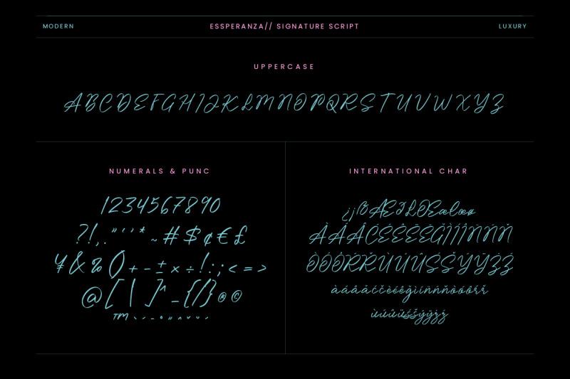 essperanza-stylish-signature-script
