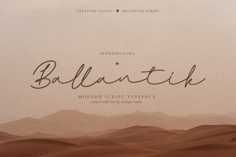 ballantik-modern-monoline-script