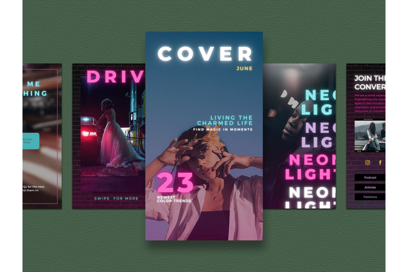 neon-instagram-story-templates-for-canva