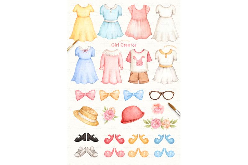 girl-creator-watercolor-clip-arts