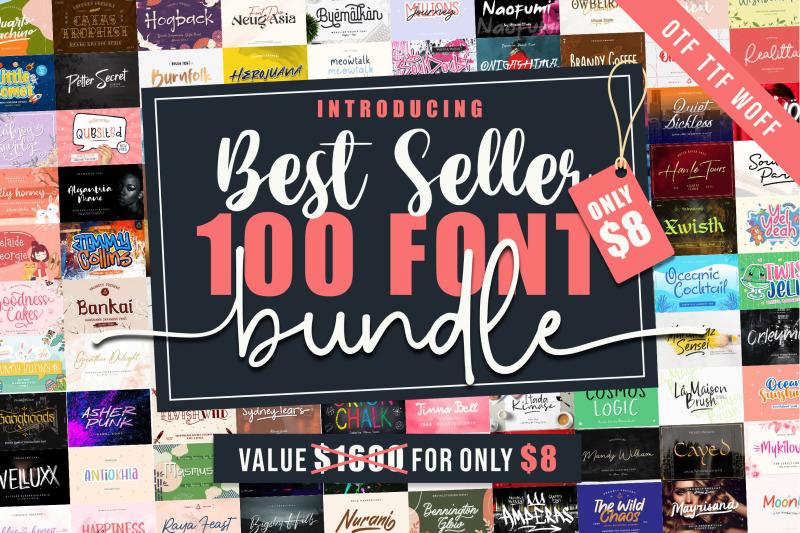 best-seller-100-font-bundle