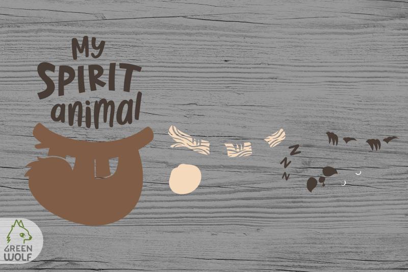 sloth-is-my-spirit-animal-svg-sloth-svg-funny-t-shirt-svg-design