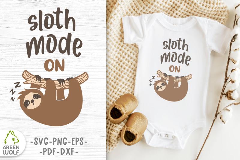 sloth-mode-svg-sleeping-sloth-on-branch-svg-baby-bodysuit-svg-design