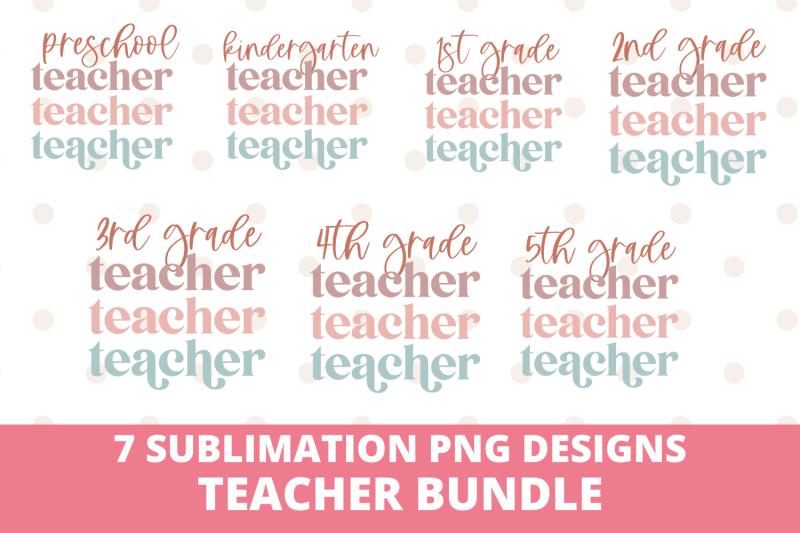 teacher-sublimation-png-design-bundle