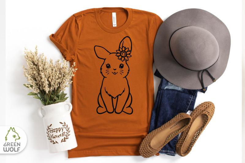 bunny-with-sunflower-svg-bunny-svg-cute-farm-animals-svg-farm-svg