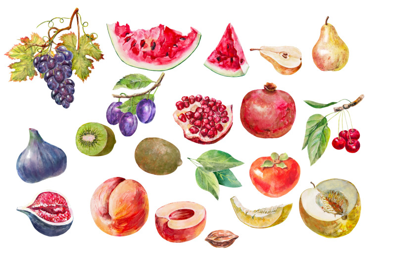 fruits-watercolor-clipart-food-clipart-for-printable