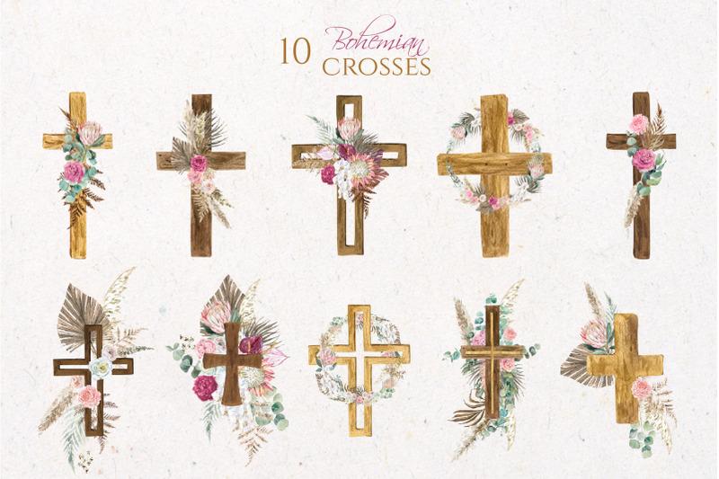 boho-floral-cross