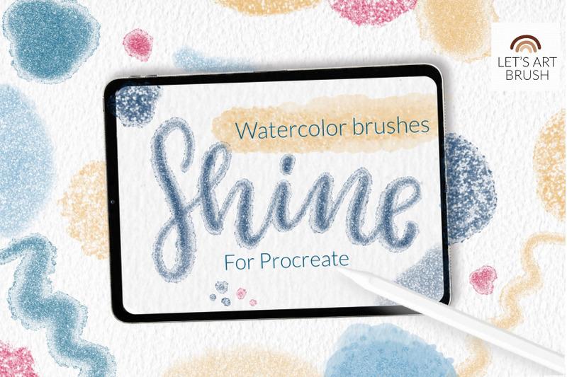 shimmer-glitter-watercolor-brushes-for-procreate