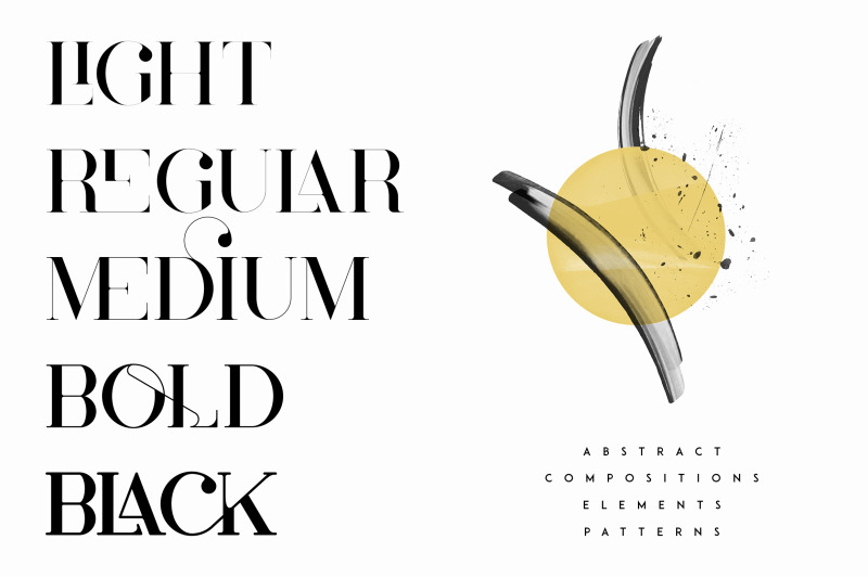 cruell-serif-typeface-5-fonts