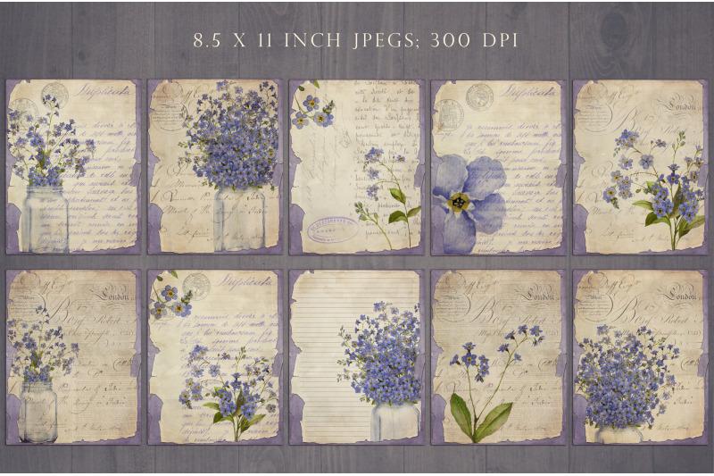 vintage-flower-junk-journal-sheets