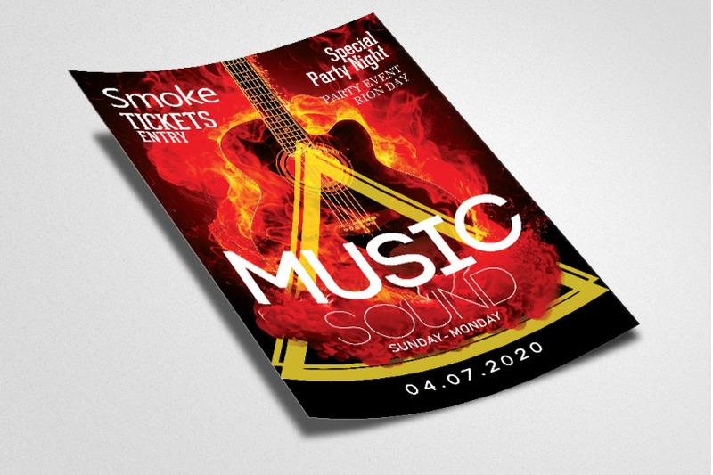 music-sound-smokey-flyer