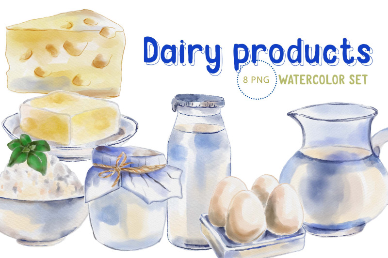 dairy-products-watercolour-clipart
