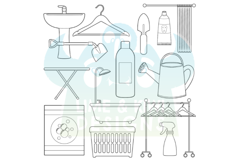 around-the-house-1-garden-bathroom-laundry-room-digital-stamps