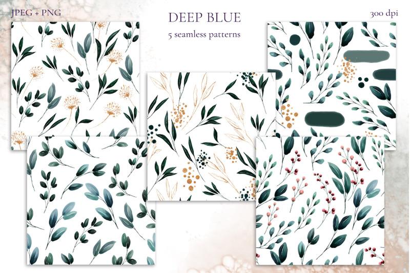 deep-blue-floral