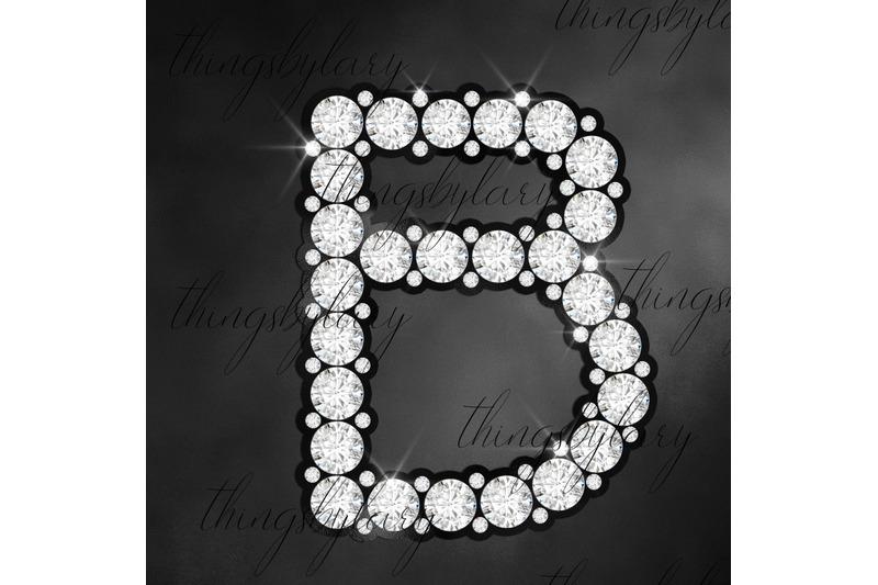 81-black-and-diamond-alphabet-number-symbol-clipart-not-font