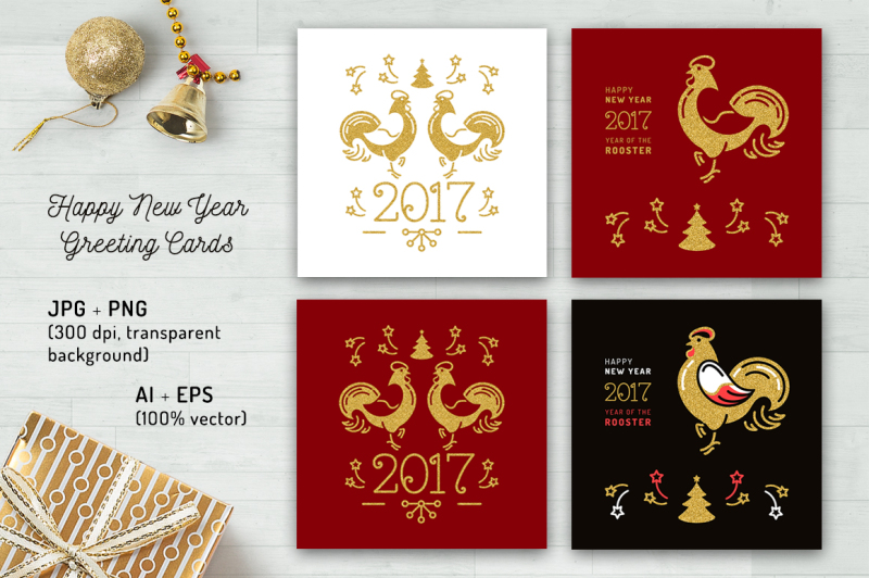 chinese-rooster-2017-card-set